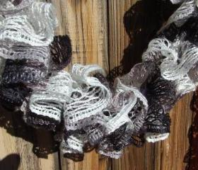 PDF Pattern 2 ways to crochet Sashy mesh ruffle scarf
